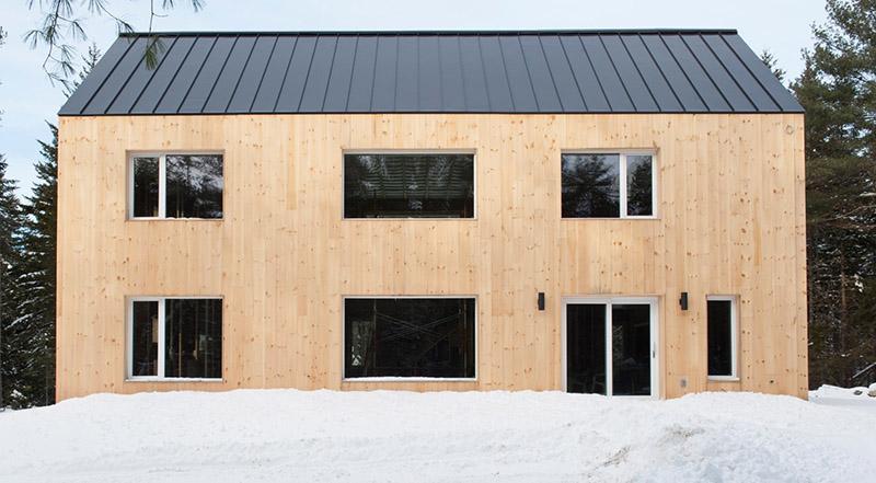 Modelo de vivienda prefabricada passivhaus de Ecocor.