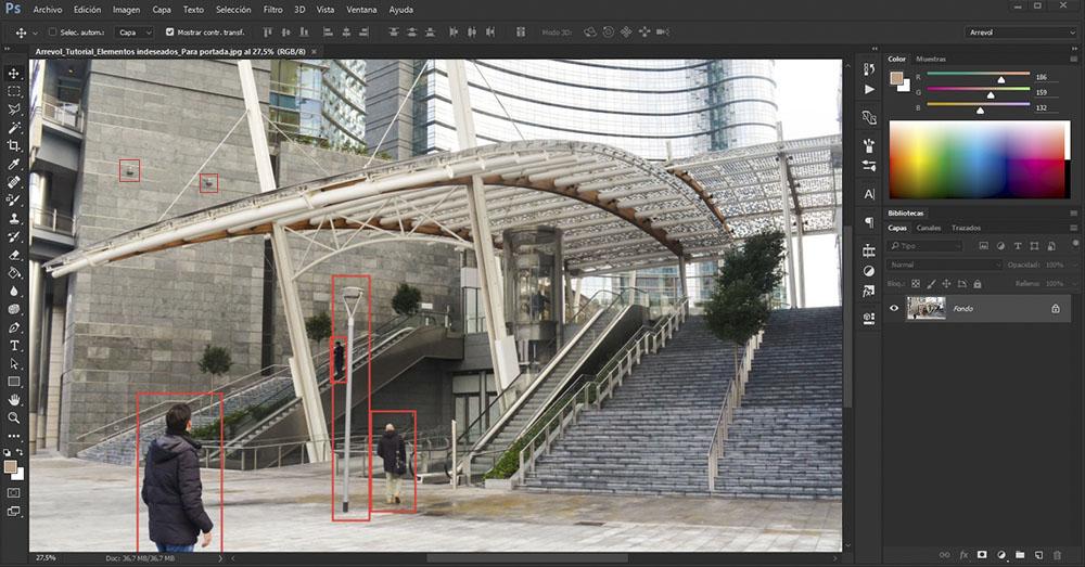 Tutorial photoshop 5 m todos para eliminar elementos for Blog de arquitectura