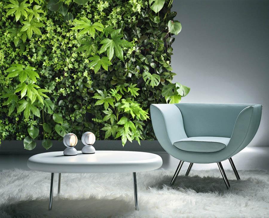 El jardín vertical se puede instalar en cualquier pared que tengamos disponible en nuestra vivienda.