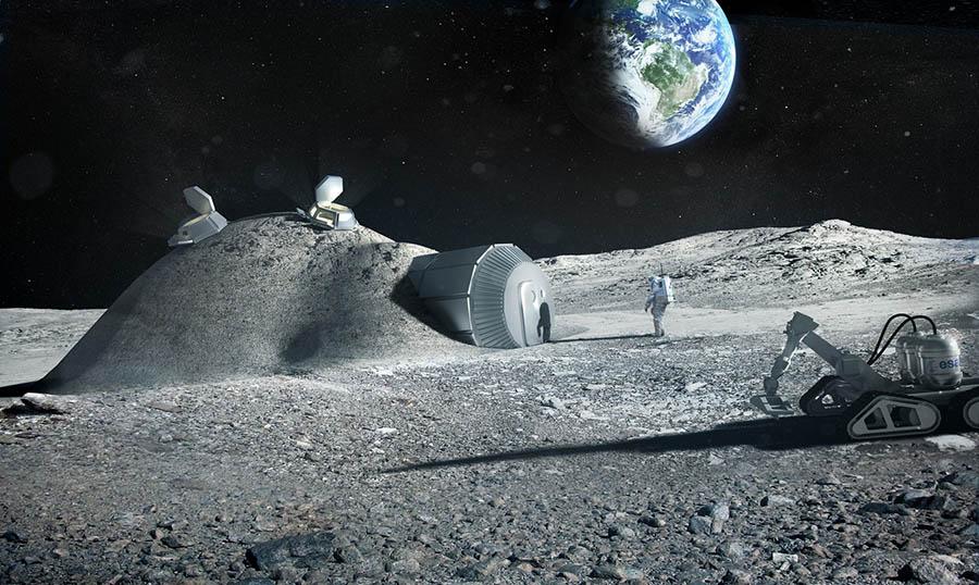 Proyecto de base habitable permanente en la luna  de Norman Foster & Partners  .