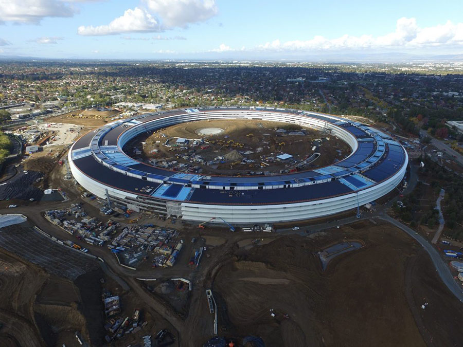 Avance de las obras del Apple Campus 2.