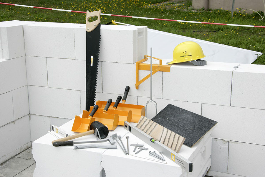 Herramientas necesarias para construir con bloques Ytong.