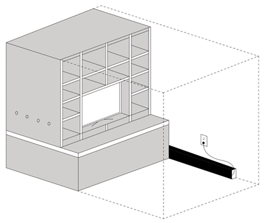 ORI puede funcionar en espacios muy reducidos.