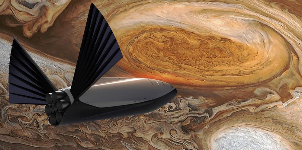 Prototipo de nave espacial presentado por SpaceX para colonizar Marte o cualquier otro planeta de superficie sólida