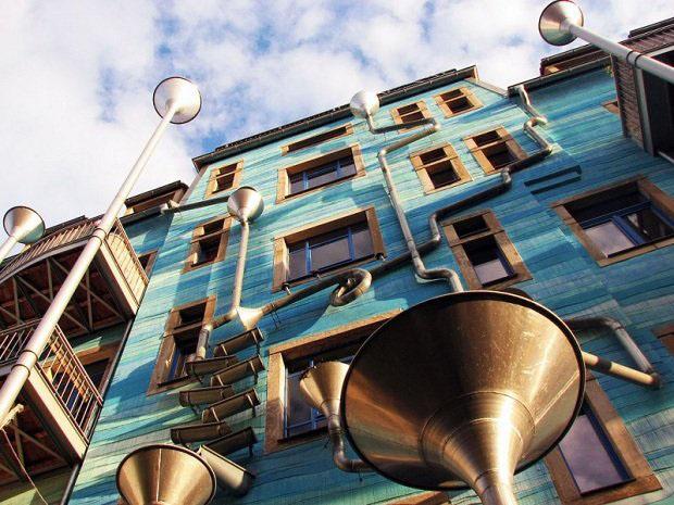 Dresden Musical Rain Building. Este edificio aprovecha el agua de lluvia para crear música.