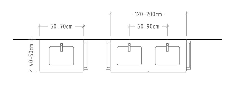 C mo dimensionar correctamente un ba o dimensiones for Dimensiones minimas bano