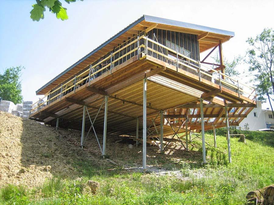 La construcción de una vivienda en una parcela inclinada es más compleja.