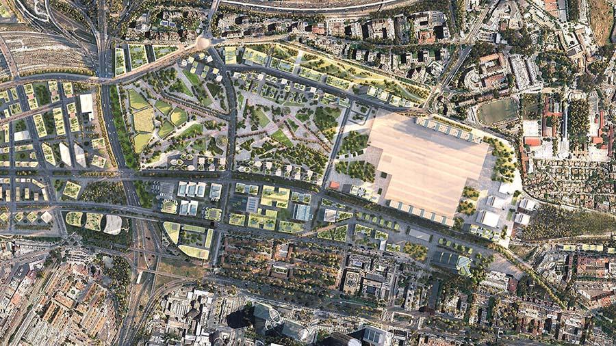 Vista aérea del futuro desarrollo de Madrid Nuevo Norte.