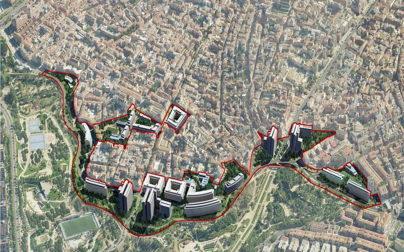 Remodelación del Paseo de la Dirección en Madrid.