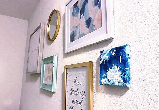 I love getting pictures of my paintings in their new homes! @tiaramichelle_ this gallery wall is to die for 😍