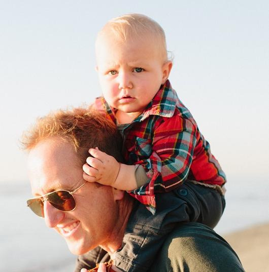 CEO Sky Meltzer & his adorable son!