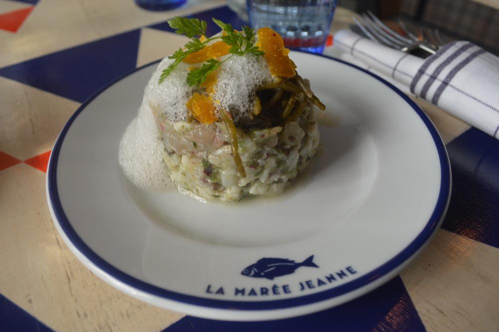 Bar aux argues, huître et émulsion