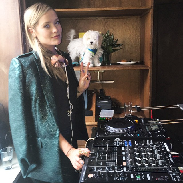 Laura Whitmore on the decks - courtesy of Laura's  instagram