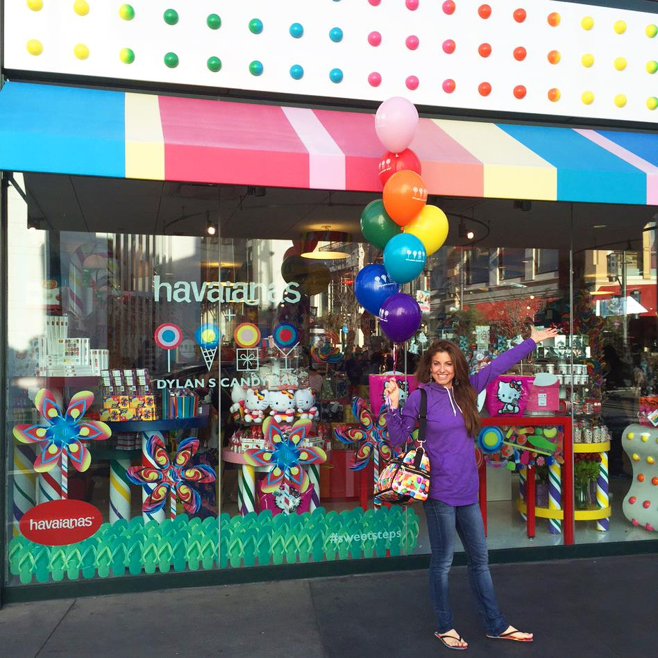 Founder Dylan Lauren outside my go-to store at The Grove in West Hollywood, LA