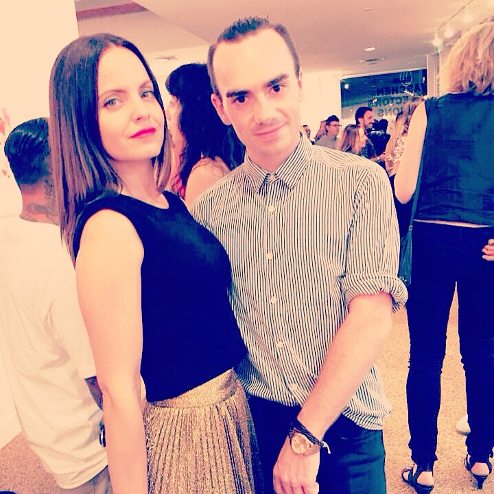 With Mena Suvari at the TASCHEN Mick Rock: Shooting for Stardust Event