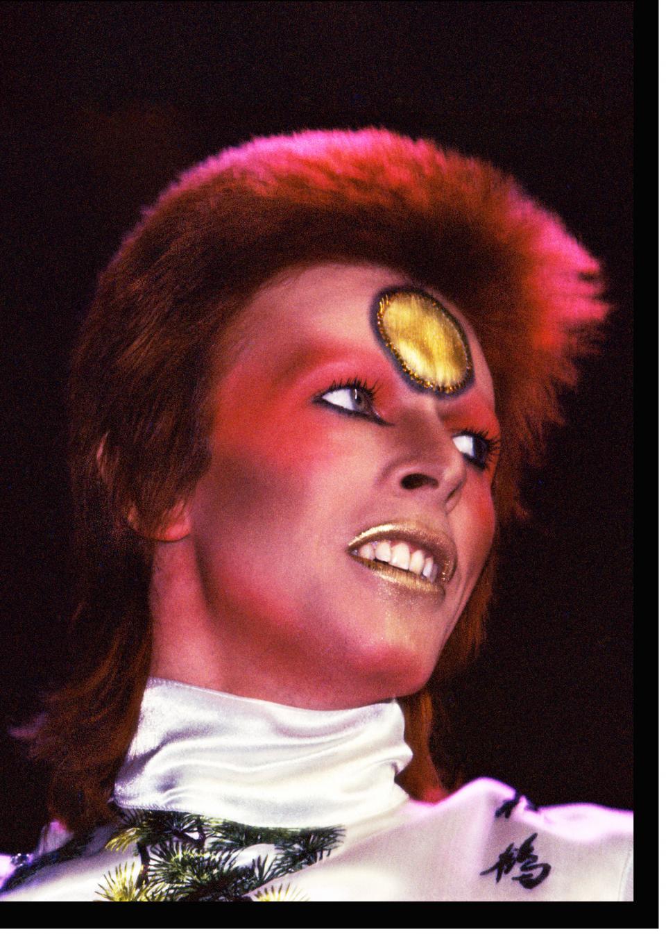 David Bowie Earl's Court 1973 by Mick Rock, $4000