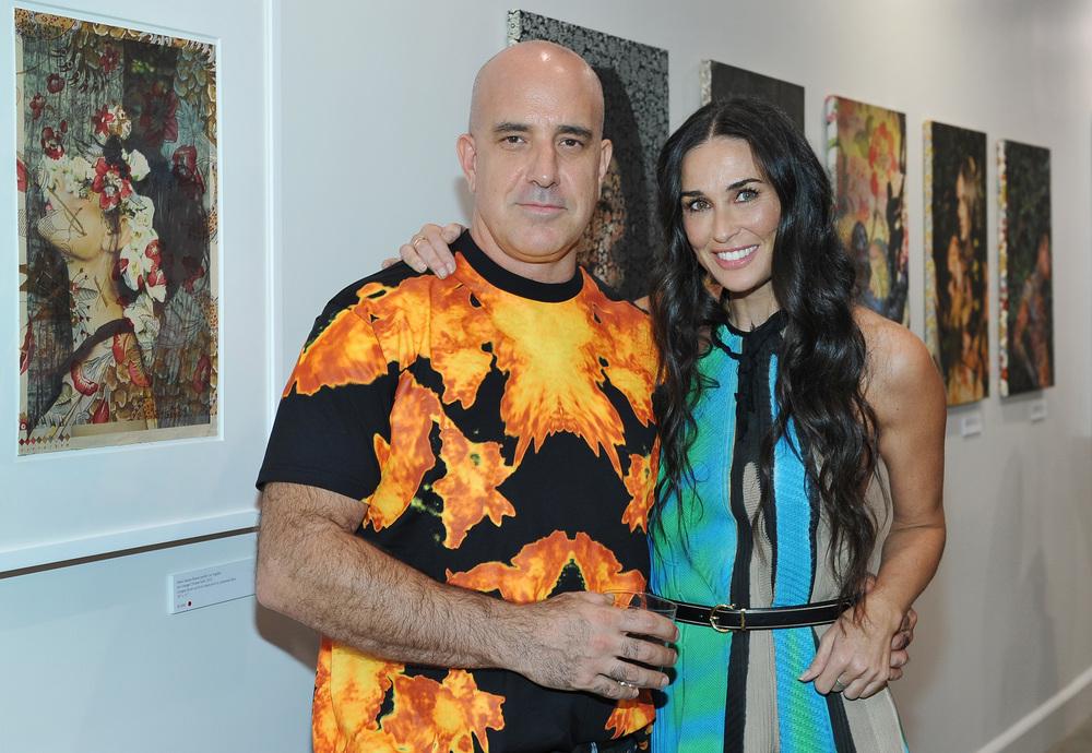 Artist Tim Hailand & Demi Moore