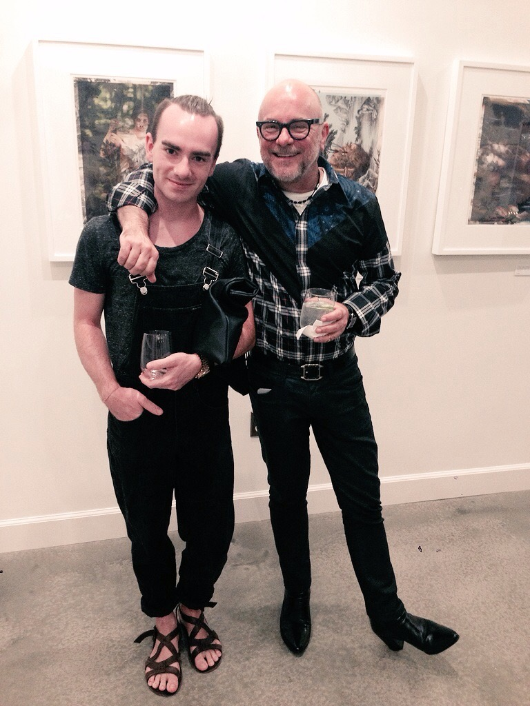 With Eric Buterbaugh, King of the Floral Industry, Los Angeles