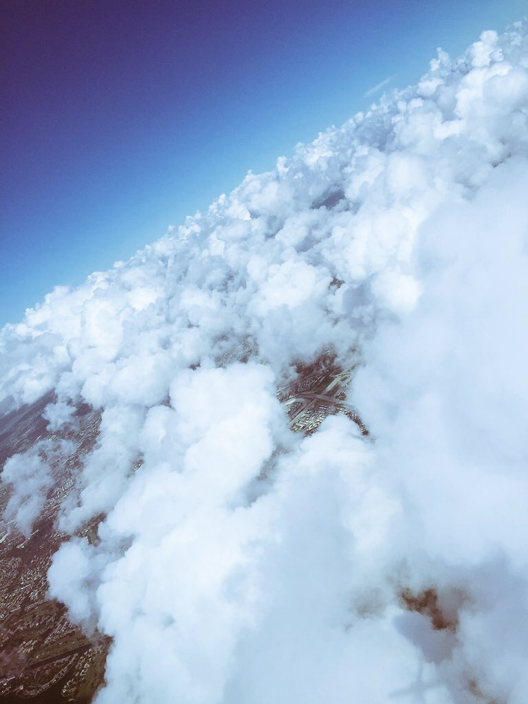 Taken somewhere up in the sky, above the clouds, my favourite place to be
