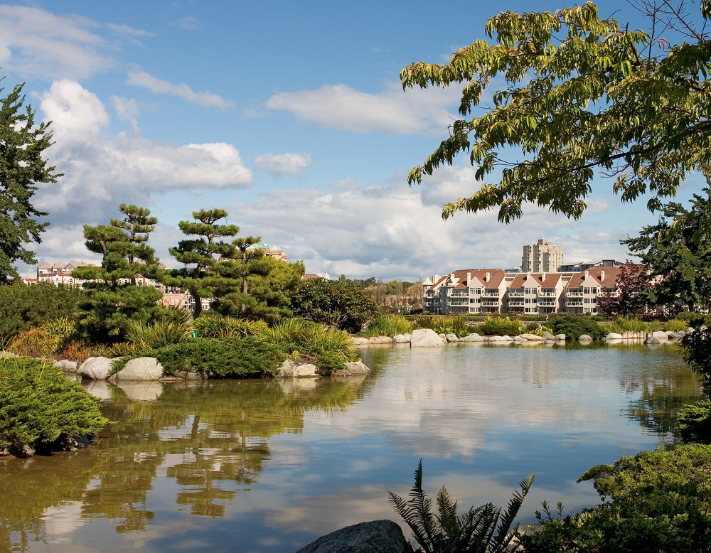Japanese Garden at Inn at Laurel Point