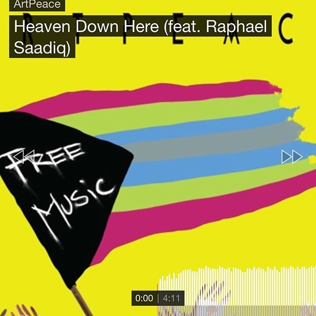 """Have you checked out our new single """"Heaven Down Here"""" featuring Raphael Saadiq yet? Like, love & share it! Link in the bio!❤️"""