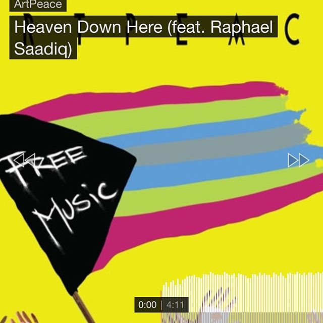 """Have you checked out our new single """"Heaven Down Here"""" featuring Raphael Saadiq yet? Like, love & share it! Link in the bio! ❤️"""