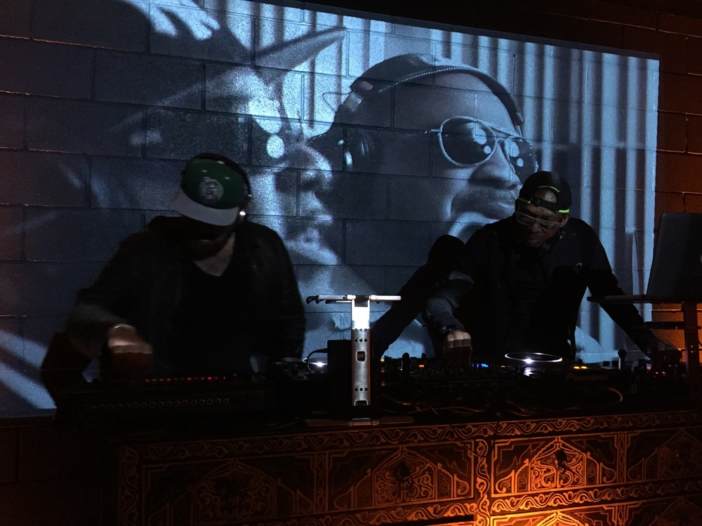 Arthur Baker and Hank Shocklee at the 808 party