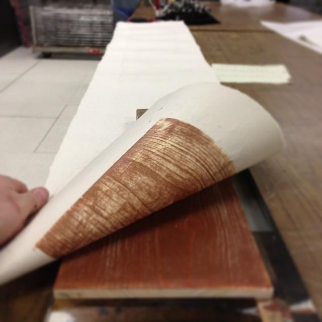 Long row to hoe #handprinting #handmadepaper