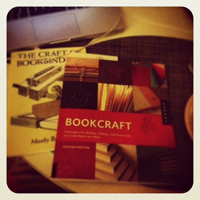 Working on some book arts assignments, I decided I should add to my library. These two look like good ones. (Bookcraft features Cynthia Lollis and Daniella Deeg and many more outstanding examples!) #lineage (at briar thicket)