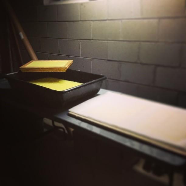 I've been prepping for this all summer. #homestudio #handmadepaper