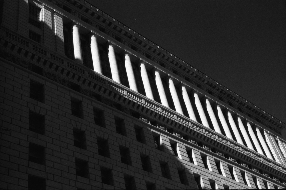 Exterior of Hall of Justice DTLA