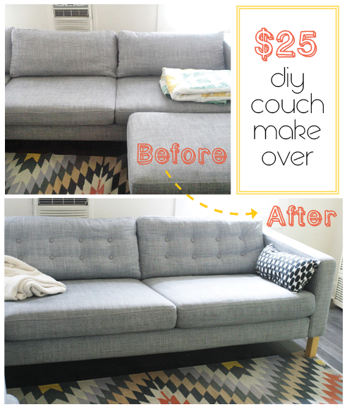 Diy Couch Tufting Tutorial 25 Ikea Karlstad Makeover