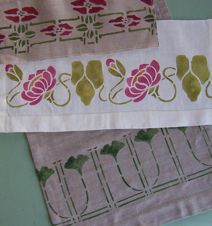 Arts Crafts Stencil Designs Ann Wallace For Prairie Textiles