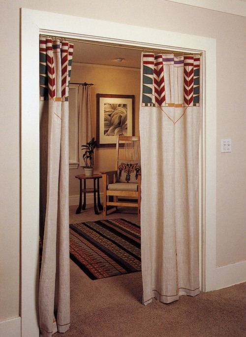 Curtains Ideas curtains in doorways : Portieres or Curtains for Doorways — Ann Wallace for Prairie Textiles