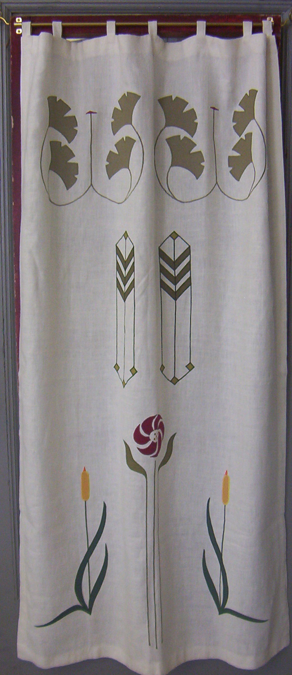 Sample panel showing Ginkgo Medallion, Prairie Grass, Aster & Cat Tail.