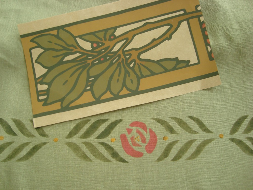 Small Rose stencil with Bradbury Thornberry