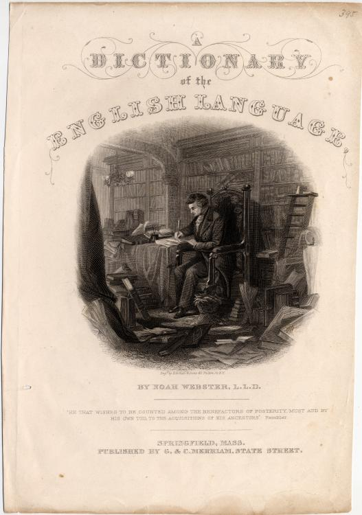 By Noah Webster; engraved by H. B. Hall and Sons, 62 Fulton Street, New York, New York - Yale University Manuscripts & Archives Digital Images Database