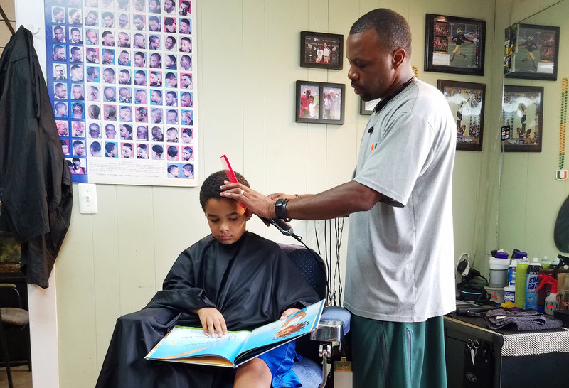 http://www.npr.org/sections/ed/2016/10/12/496553810/choose-a-book-and-read-to-your-barber-hell-take-a-little-money-off-the-top