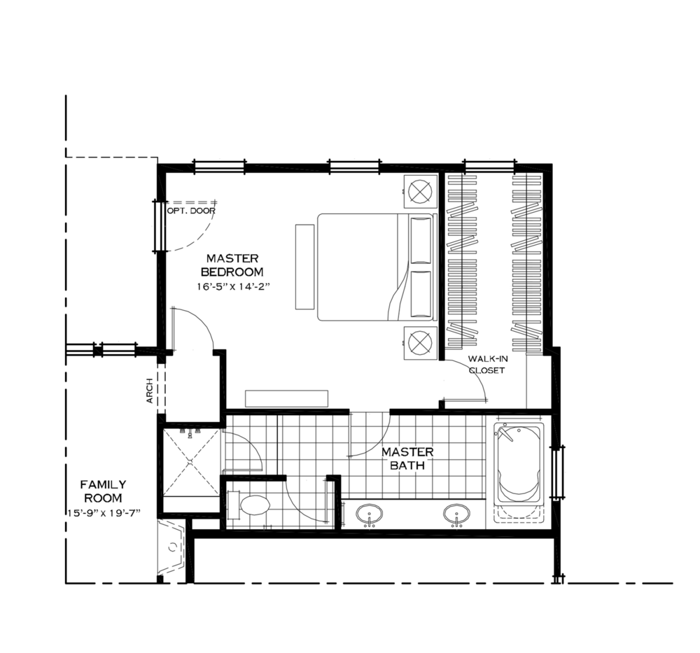 First Floor Master Bedroom Alternate Layout