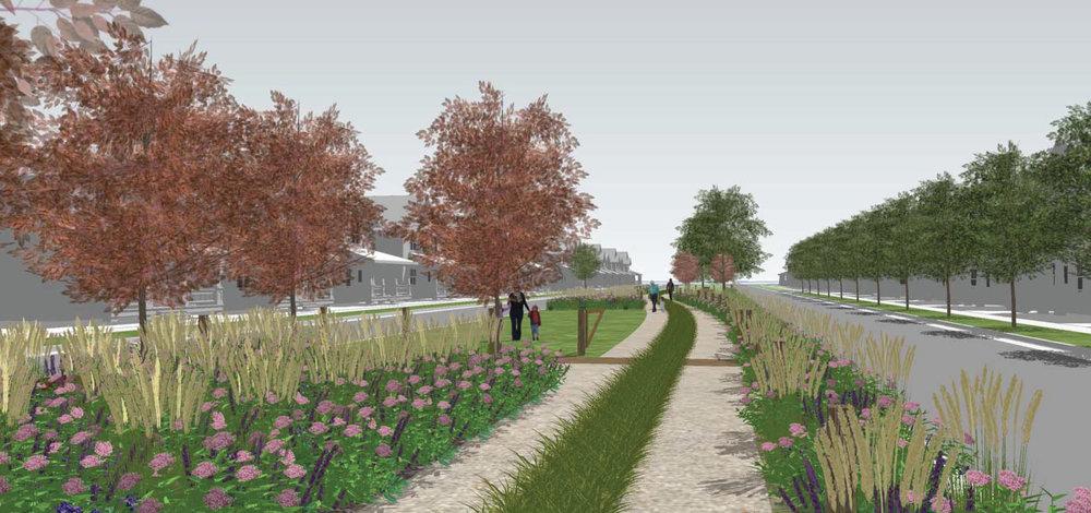 Artist's rendering of Beeler Park