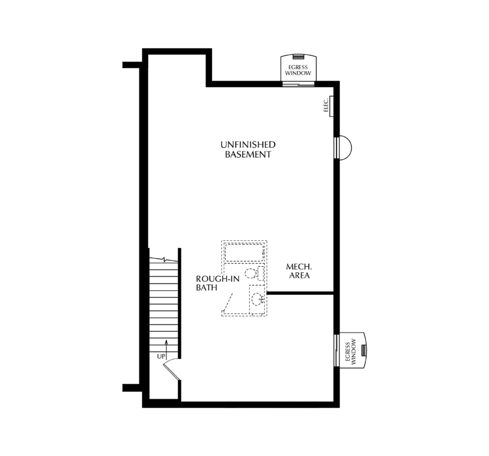 Standard Unfinished Basement