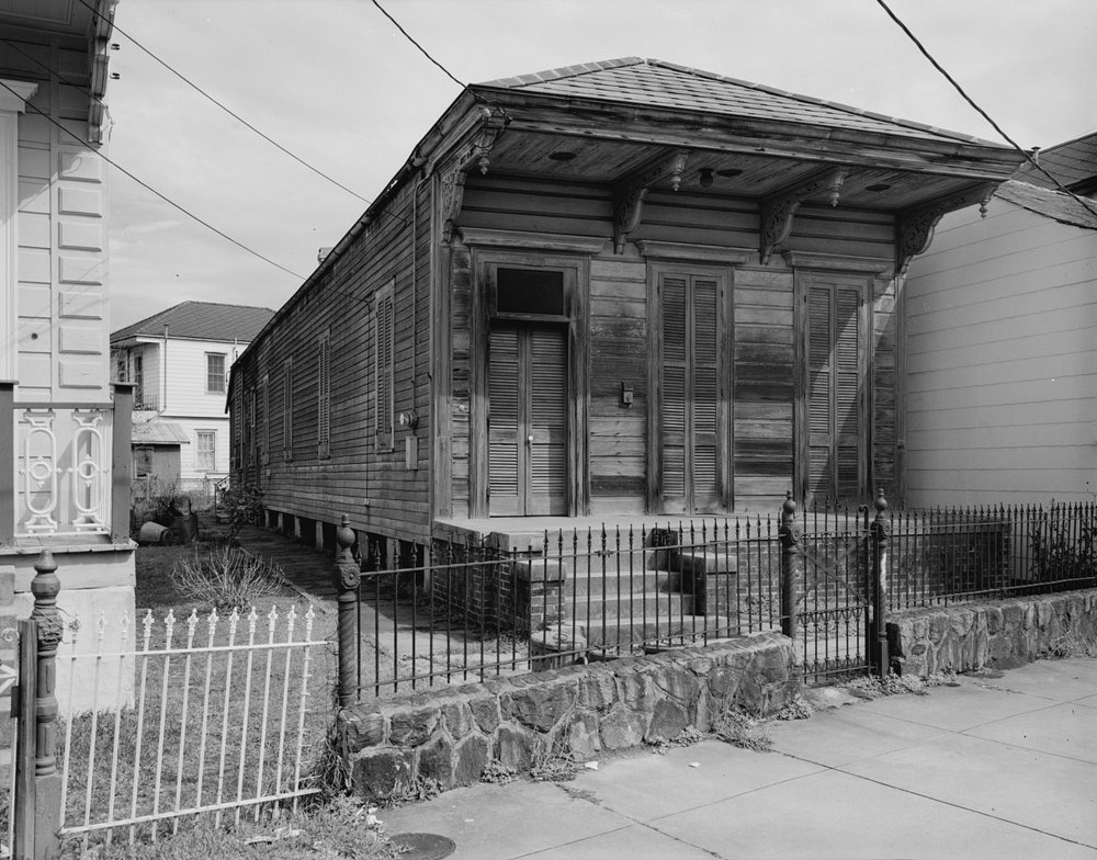Shotgun house in New Orleans, Louisiana. Source