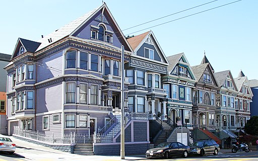Though each home is unique, their cohesive style contributes to the neighborhood's overall sense of place.  Photo by  Tony Hisgett  via Wikimedia Commons