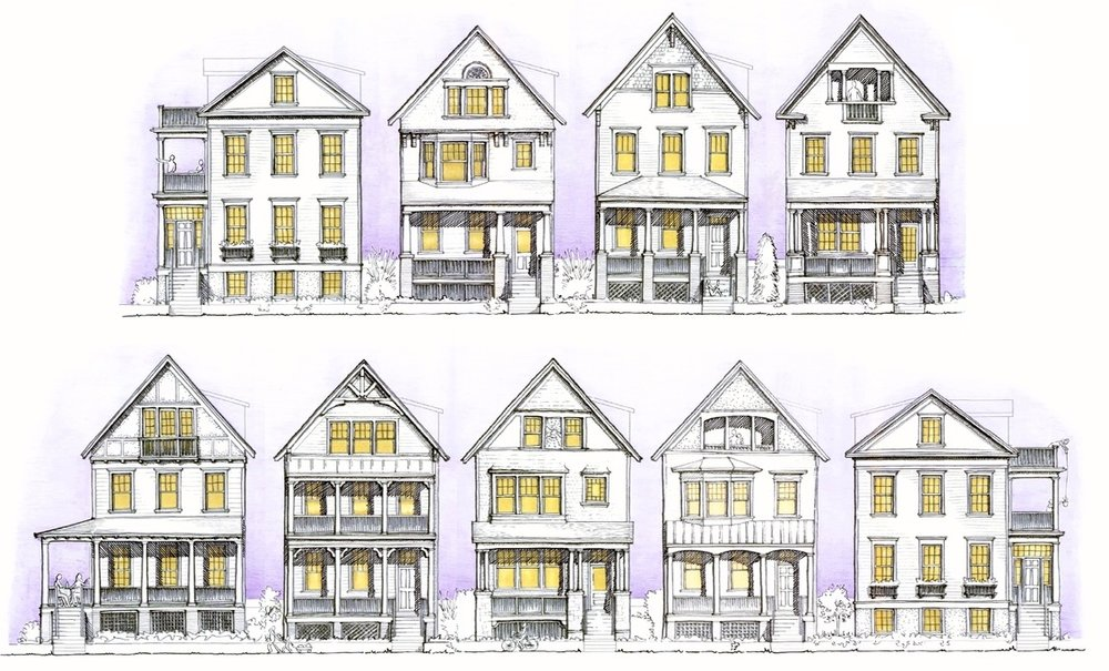 The Painted Ladies by Parkwood Homes  Artist's conceptual renderings