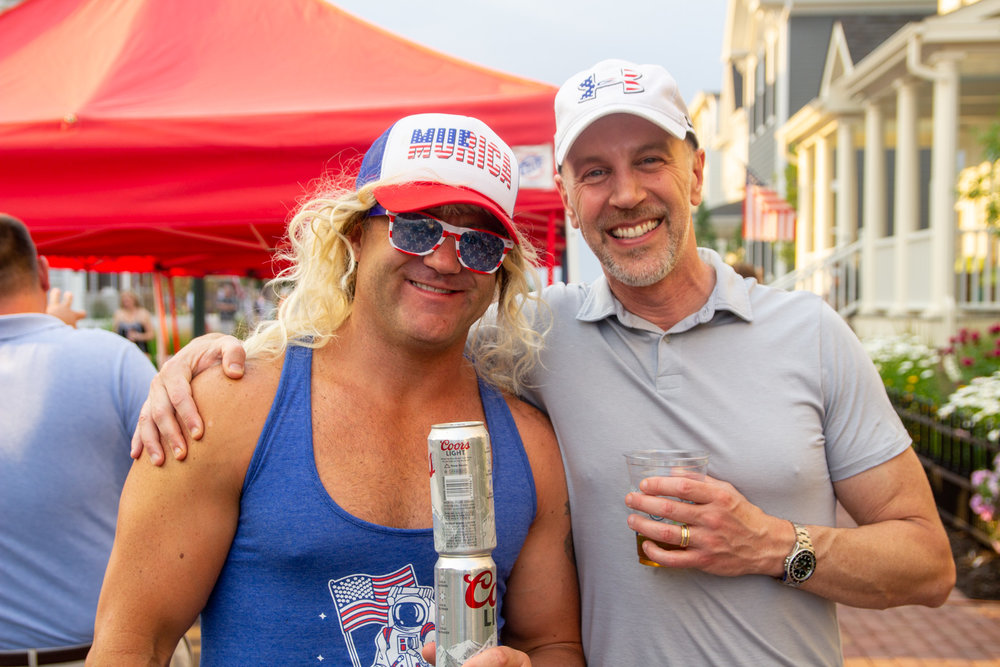 The July 4th party on Boston Street was a tremendous success.