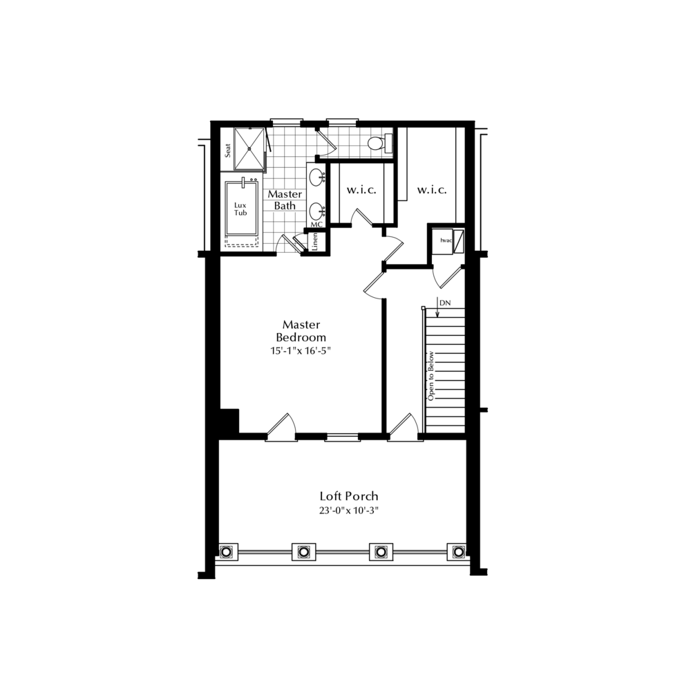Third Floor Master Suite Option