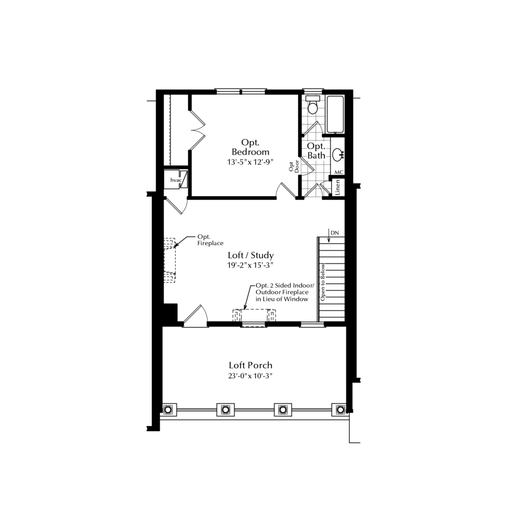 Third Floor Loft with Added Bedroom Suite Option