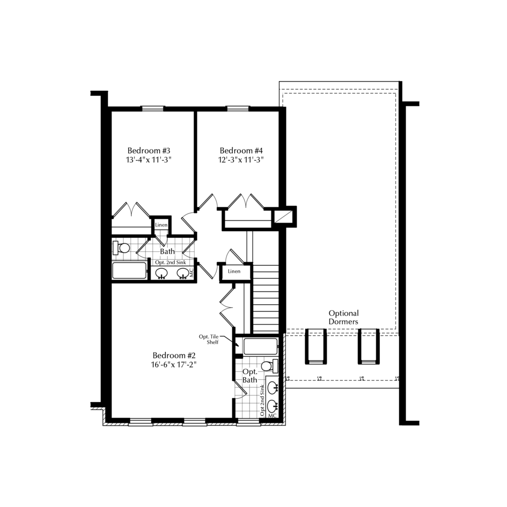Optional Second Floor with 3 Beds and 2 Baths