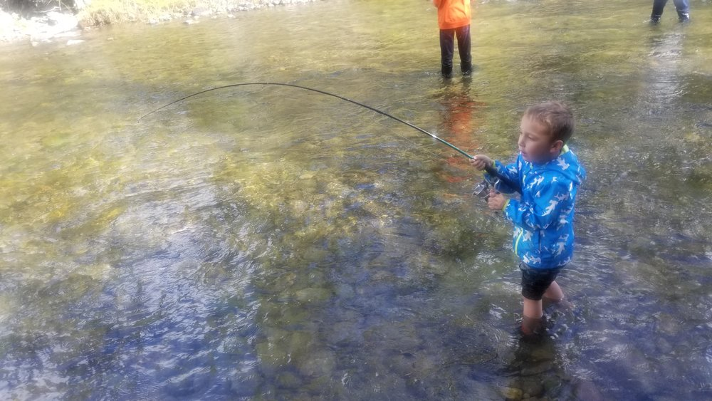 Salmon Snagging is a perfect family event in the Flathead Valley