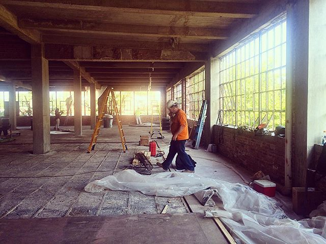 More work being done to the original windows and floors! #lionbrothersbuilding #lionbrothers #baltimore #realestate #development #realty #historicpreservation #historic #preservation #warehouse #factory #maryland #sowebo #hollinsmarket #interiordesign #construction #renovation #photography #photooftheday #instagood #instapic #charmcity #city #urban